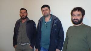 Ο υποψήφιος Δήμαρχος Ιεράπετρας, Μιχάλης Μαχαιράς, με τον Πρόεδρο του Ενιαίου Αγροτικού Σύλλόγου, Μιχάλη Μαλλιωτάκη και τον Ταμία του Συλλόγου, Νίκο Χανιωτάκη