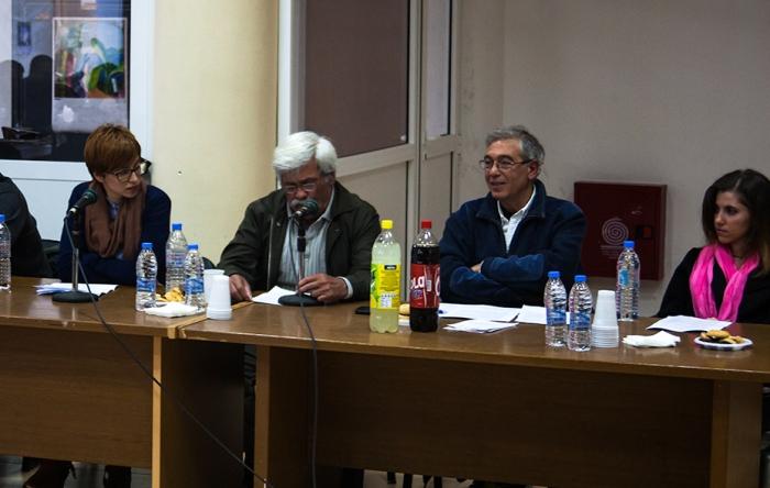 Οι Μαριλένα Χατζάκη, Γιώργος Πακιουφάκης, Ανδρέας Μαμαντόπουλος και Κατερίνα Σουργιαδάκη, παρουσίασαν τις βασικές θέσεις των Πολιτών εν δράσει για την Κοινωνική Πολιτική του Δήμου Ιεράπετρας